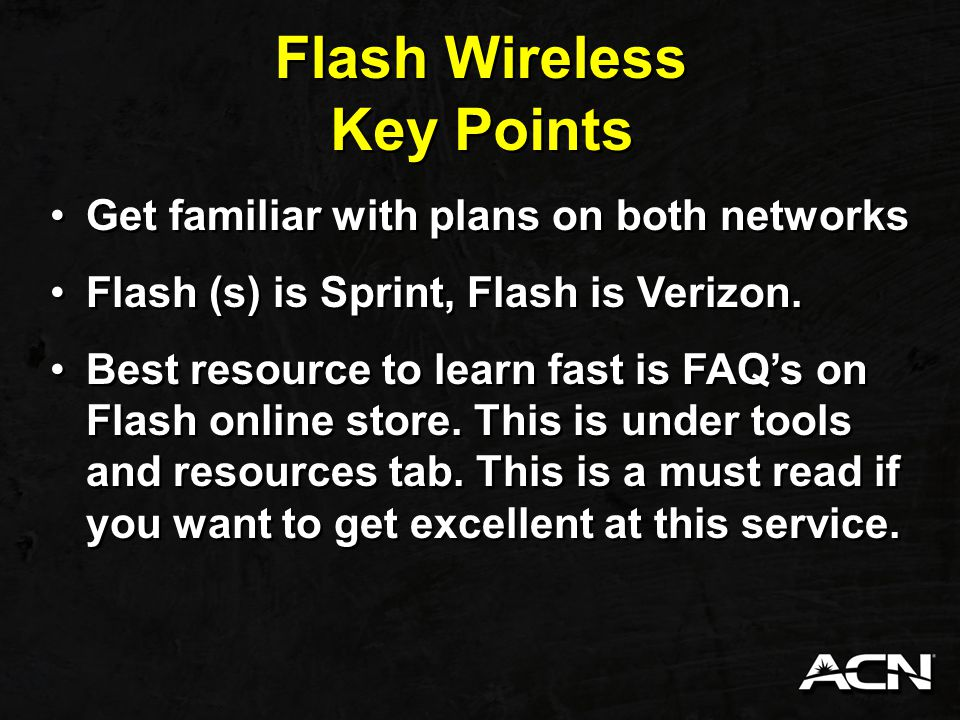 Flash Wireless Flex wallet is awesome because it provides Flash wireless a way to have all the same benefits as the other providers if you use those features.
