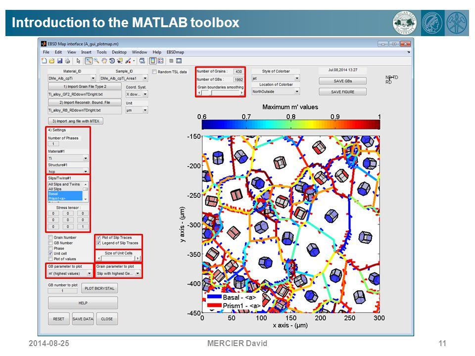 Introduction to the MATLAB toolbox MERCIER David112014-08-25