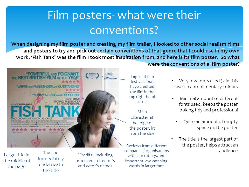 Film posters- what were their conventions.