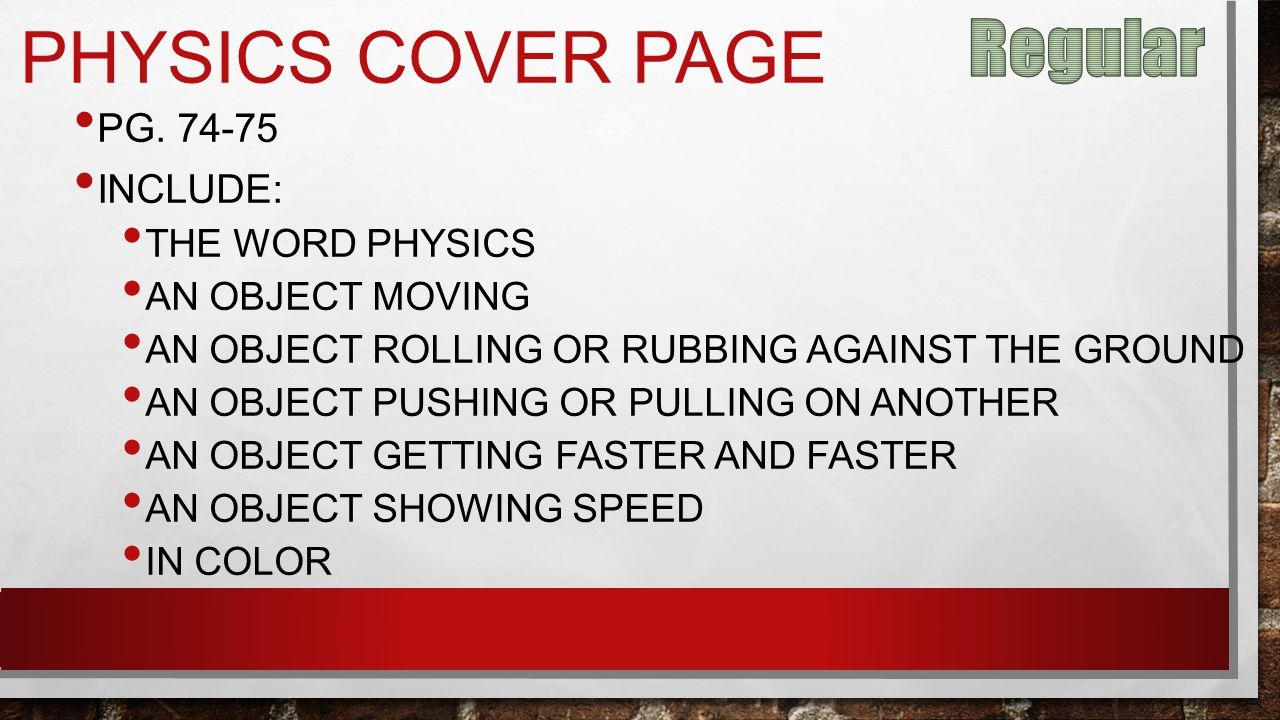 PHYSICS COVER PAGE PG.