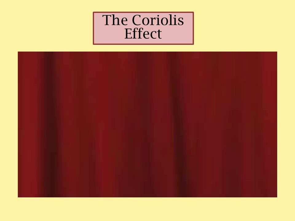 Evidence of the Coriolis Effect can be seen in global pattern of winds, large storms and ocean currents.
