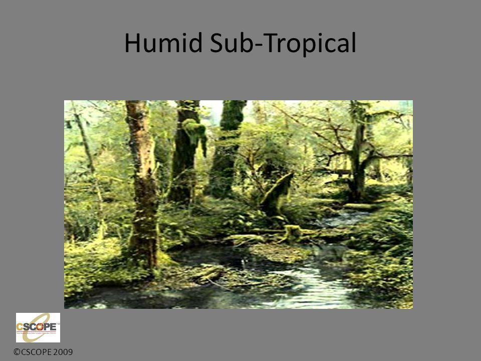 ©CSCOPE 2009 Humid Sub-Tropical