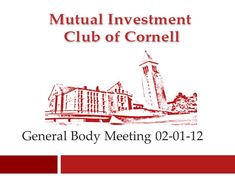 General Body Meeting 02-01-12 1