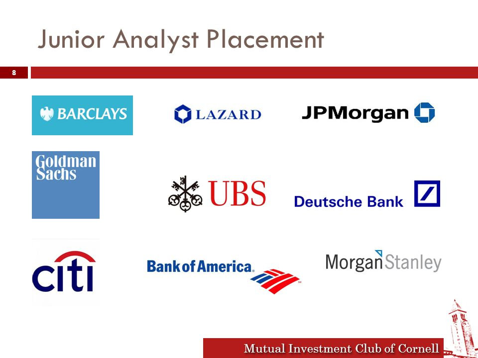 Mutual Investment Club of Cornell Junior Analyst Placement 8