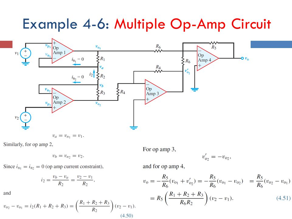 Example 4-6: Multiple Op-Amp Circuit