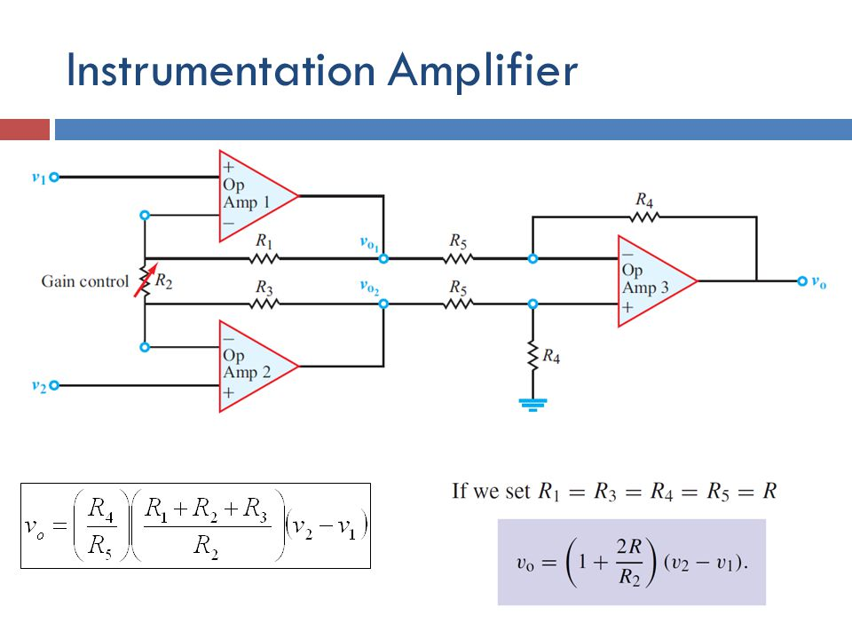 Instrumentation Amplifier Highly sensitive differential amplifier