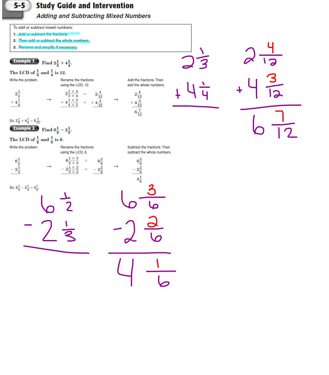 worksheet Subtracting Whole Numbers From Fractions adding mixed numbers ar 1 i can make equivalent fractions ppt fractions