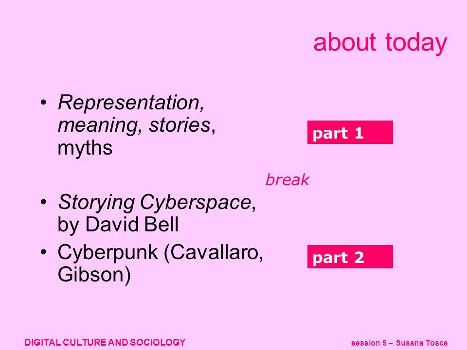 DIGITAL CULTURE AND SOCIOLOGY session 5 – Susana Tosca cyberpunk