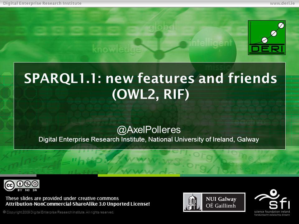  Copyright 2009 Digital Enterprise Research Institute.