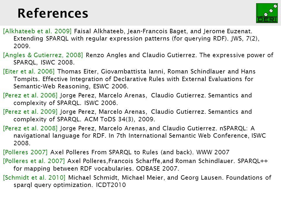 Digital Enterprise Research Institute www.deri.ie References [Alkhateeb et al.