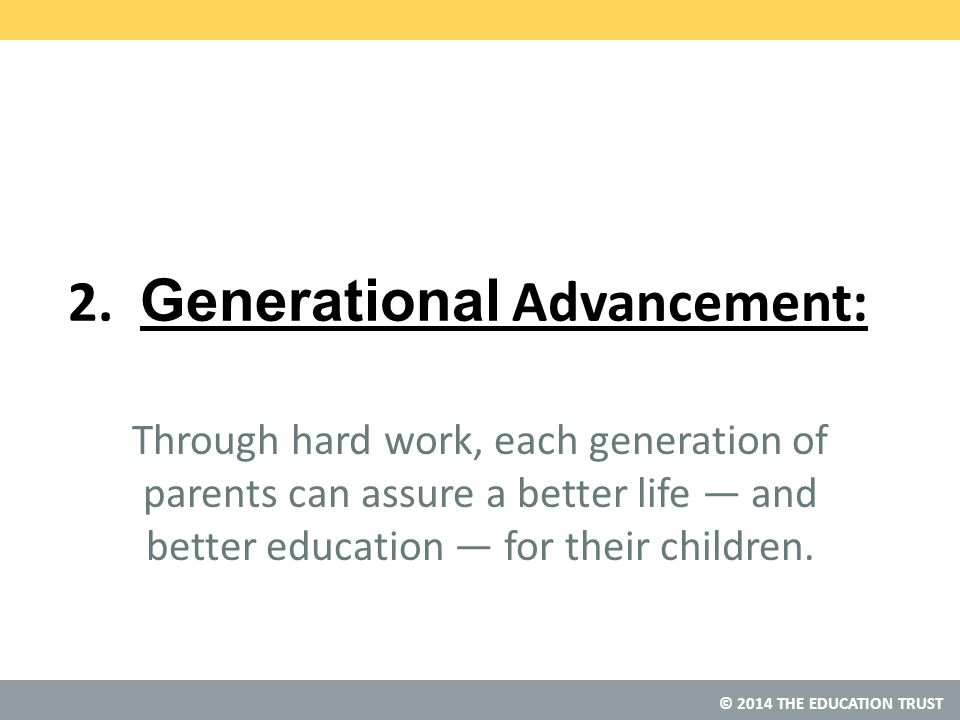 © 2014 THE EDUCATION TRUST What can we learn from the fastest gainers? n/a