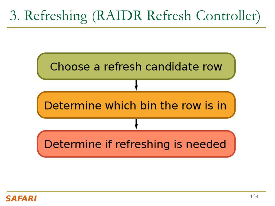 3. Refreshing (RAIDR Refresh Controller) 154