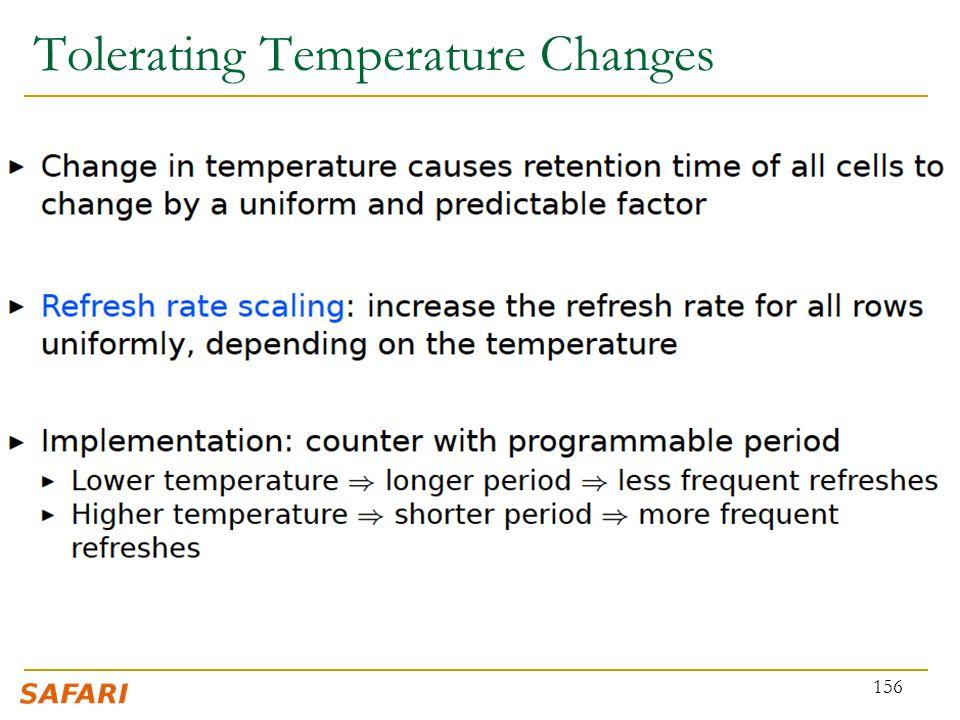 Tolerating Temperature Changes 156