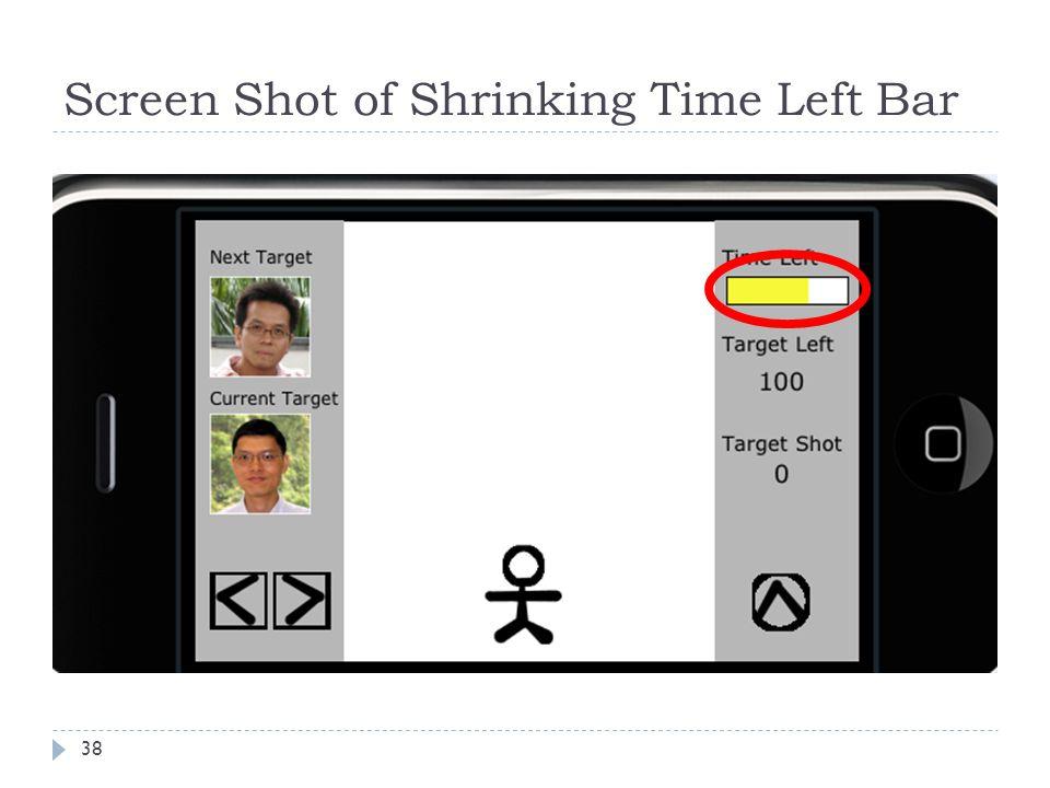 Screen Shot of Shrinking Time Left Bar 38