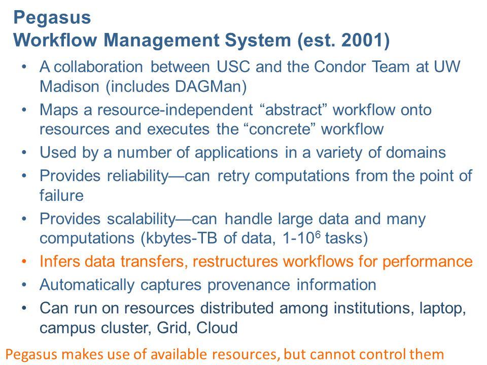 Pegasus Workflow Management System (est.