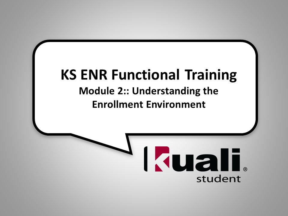 KS ENR Functional Area: Setup (Environment): Registration Environment, Holds and Exemptions 32