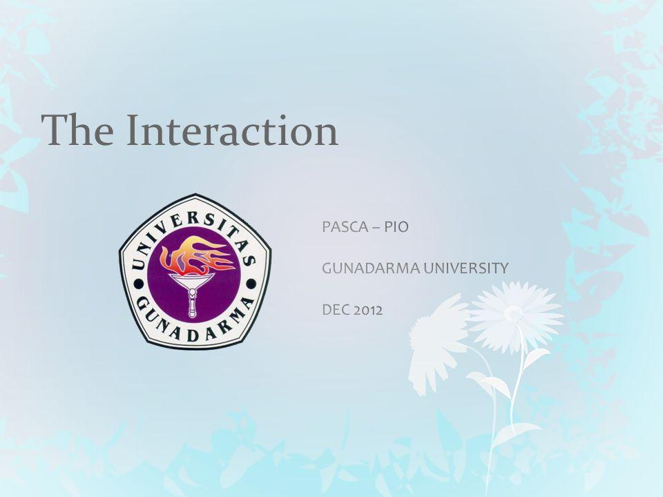 Overview Interaction Models understand human-computer communication Ergonomics Physical characteristics of interaction Context Social Organizational