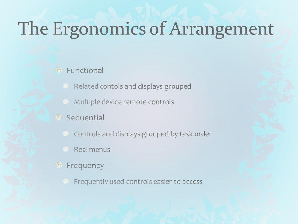 The Ergonomics of Arrangement