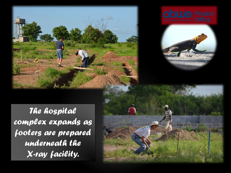 The hospital complex expands as footers are prepared underneath the X-ray facility.