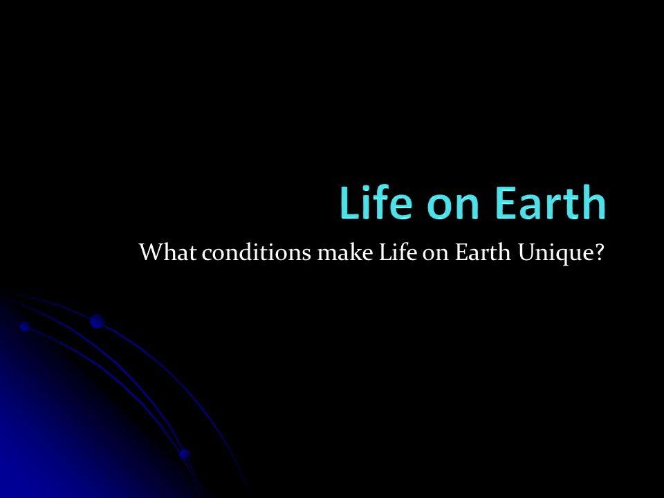 What conditions make Life on Earth Unique?