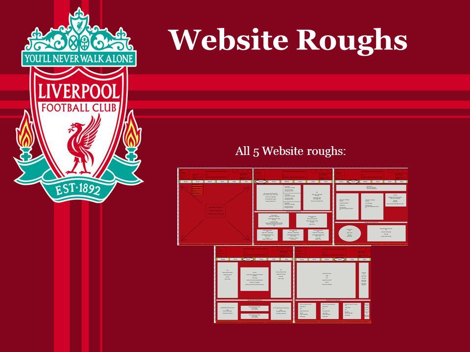 Website Roughs All 5 Website roughs: