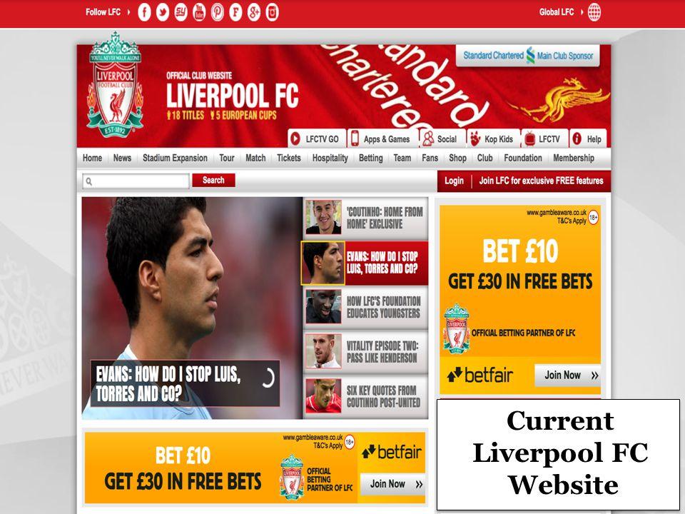 Current Liverpool FC Website
