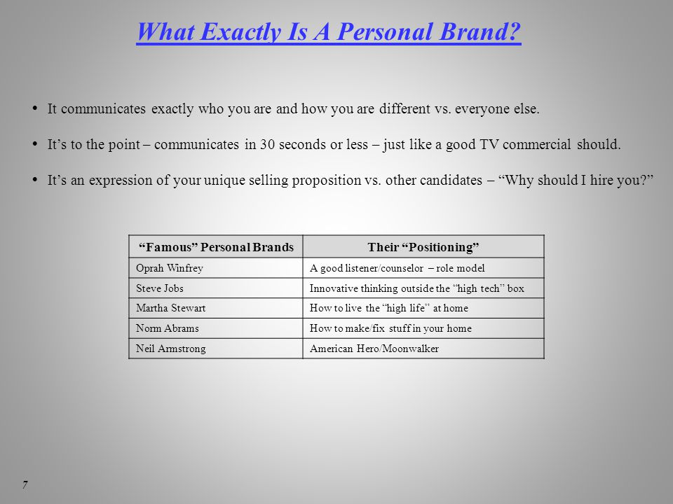 What Exactly Is A Personal Brand.
