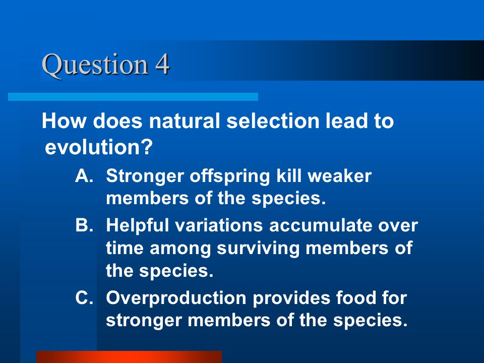 Question 3 Which term refers to a species creating more offspring than can possibly survive.