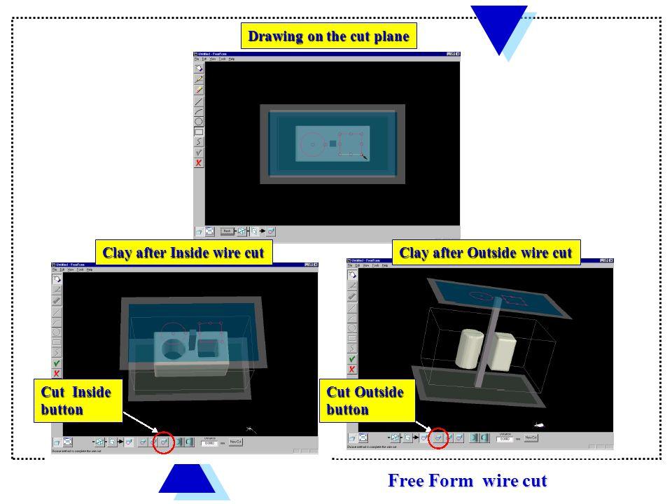 FreeForm wire-cut mode Wire Cut Menu Sketch planes