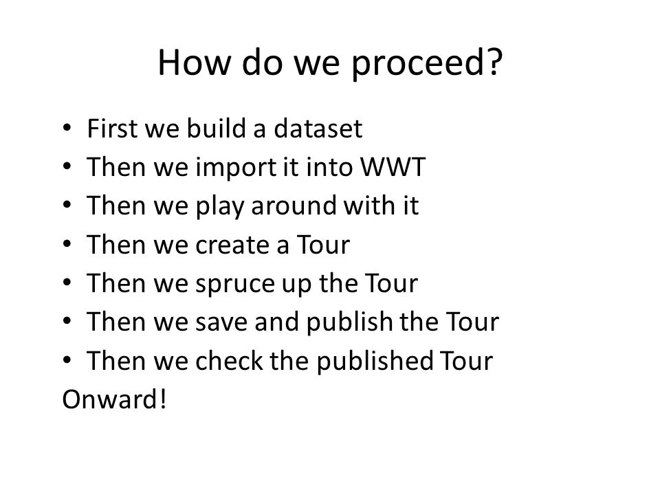 How do we proceed.
