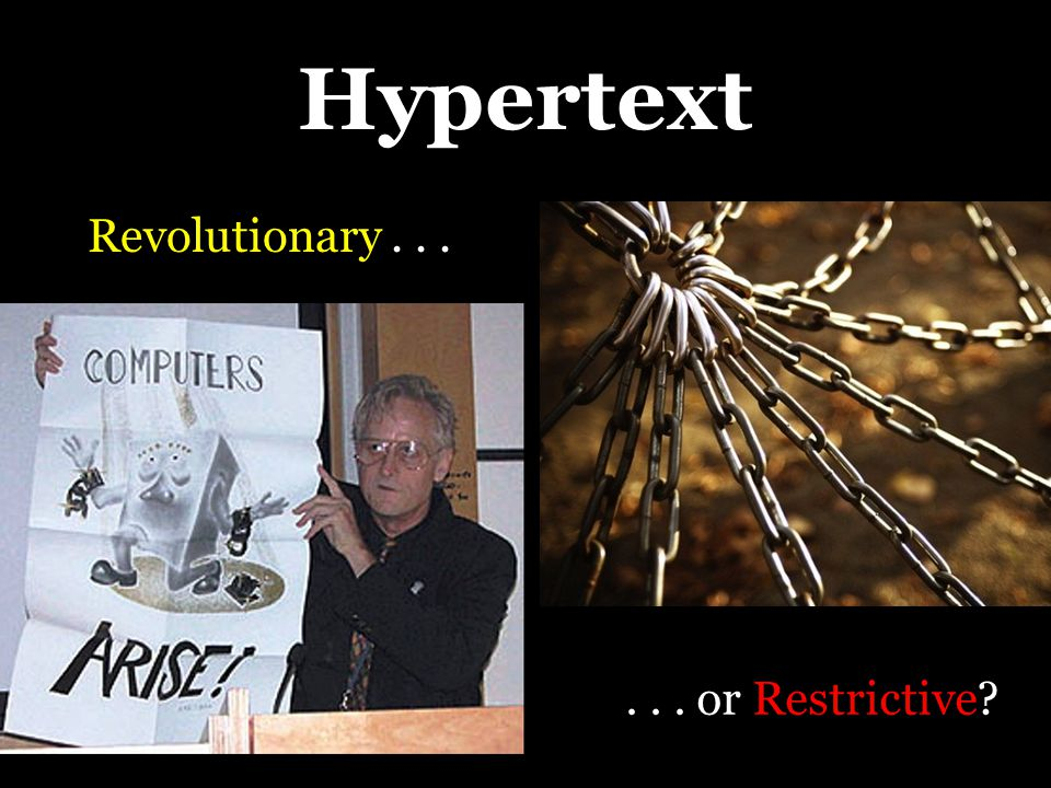 From Hypertext Critique to Hypertext Composition Whereas banking education anesthetizes and inhibits creative power, problem- posing education involves a constant unveiling of reality.