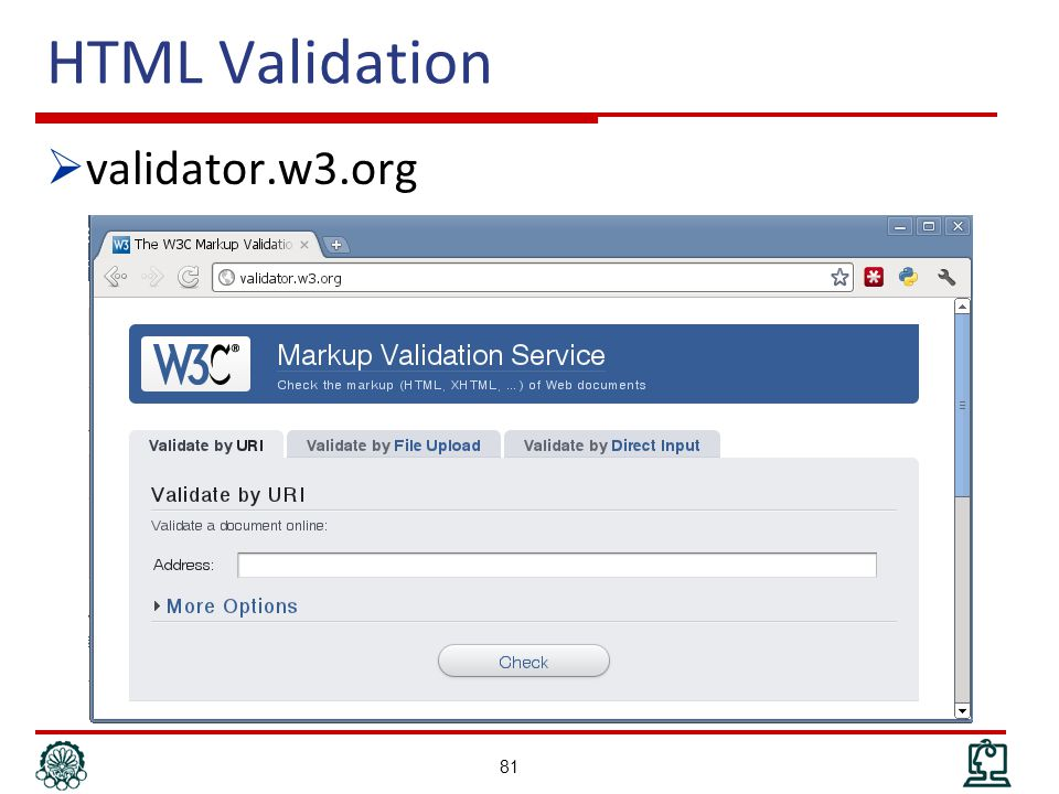 HTML Validation  validator.w3.org 81