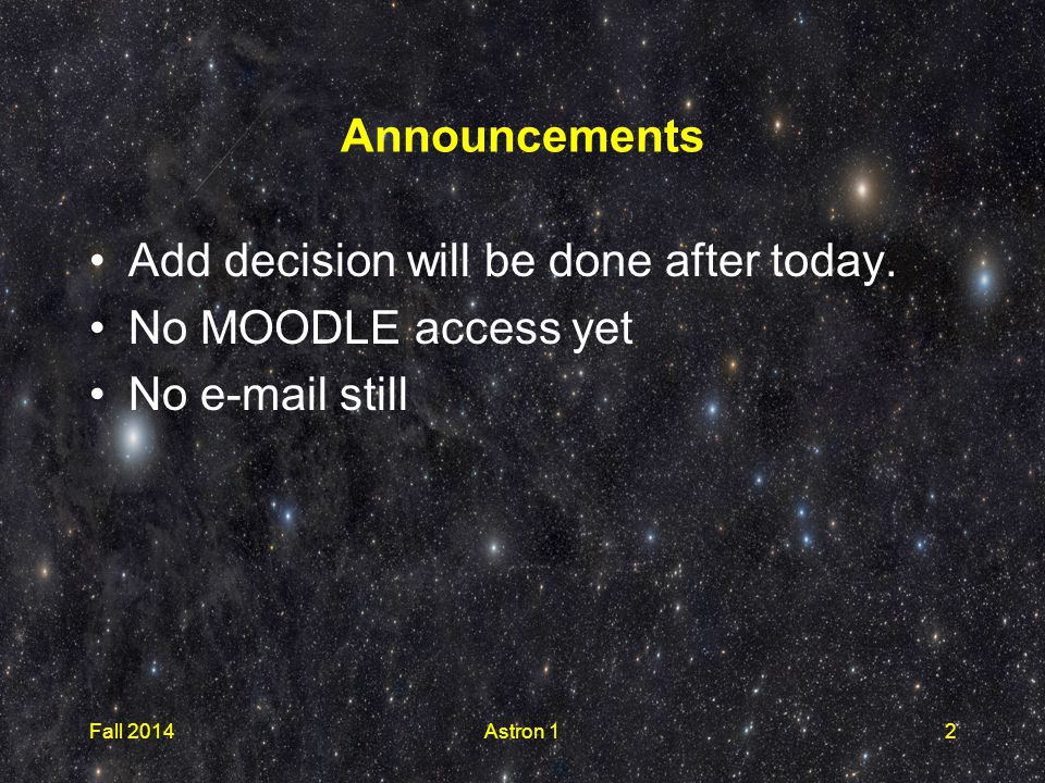 Announcements Add decision will be done after today.