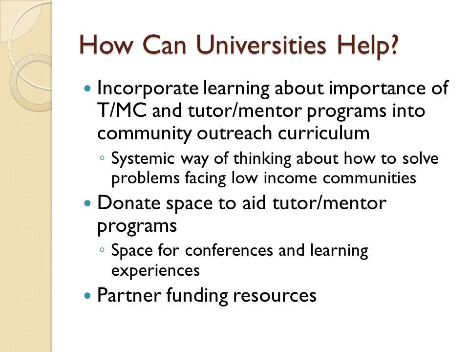 How Can Universities Help.