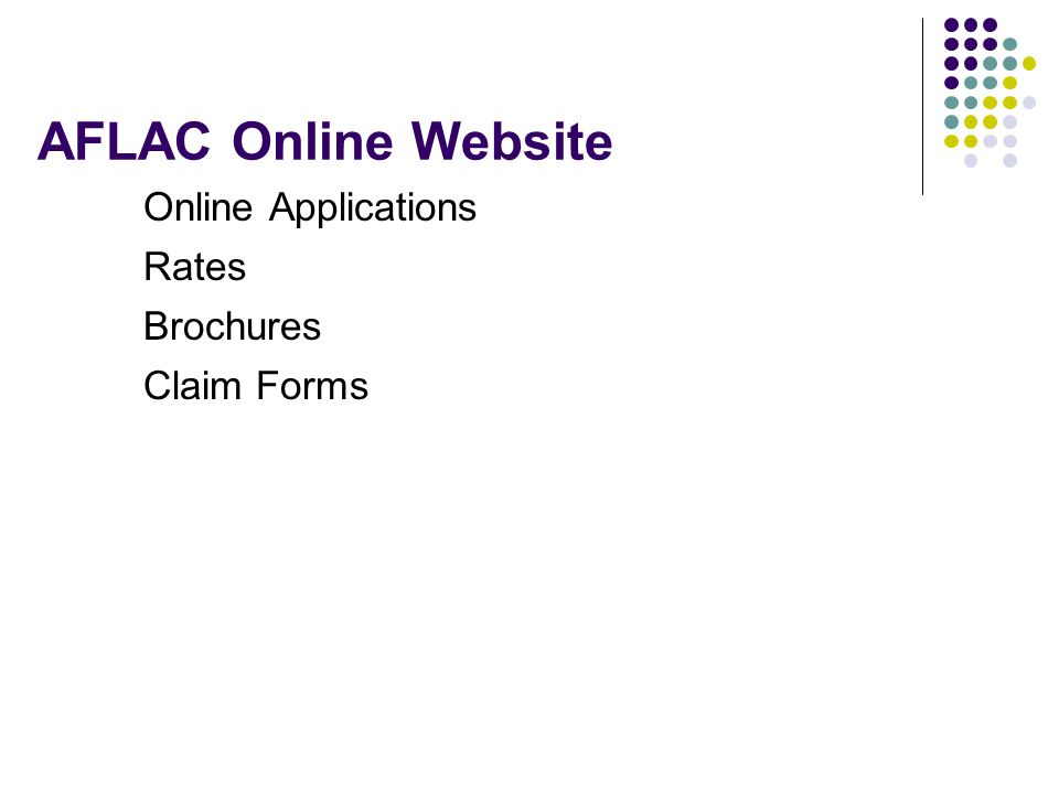 AFLAC Online Website Online Applications Rates Brochures Claim Forms