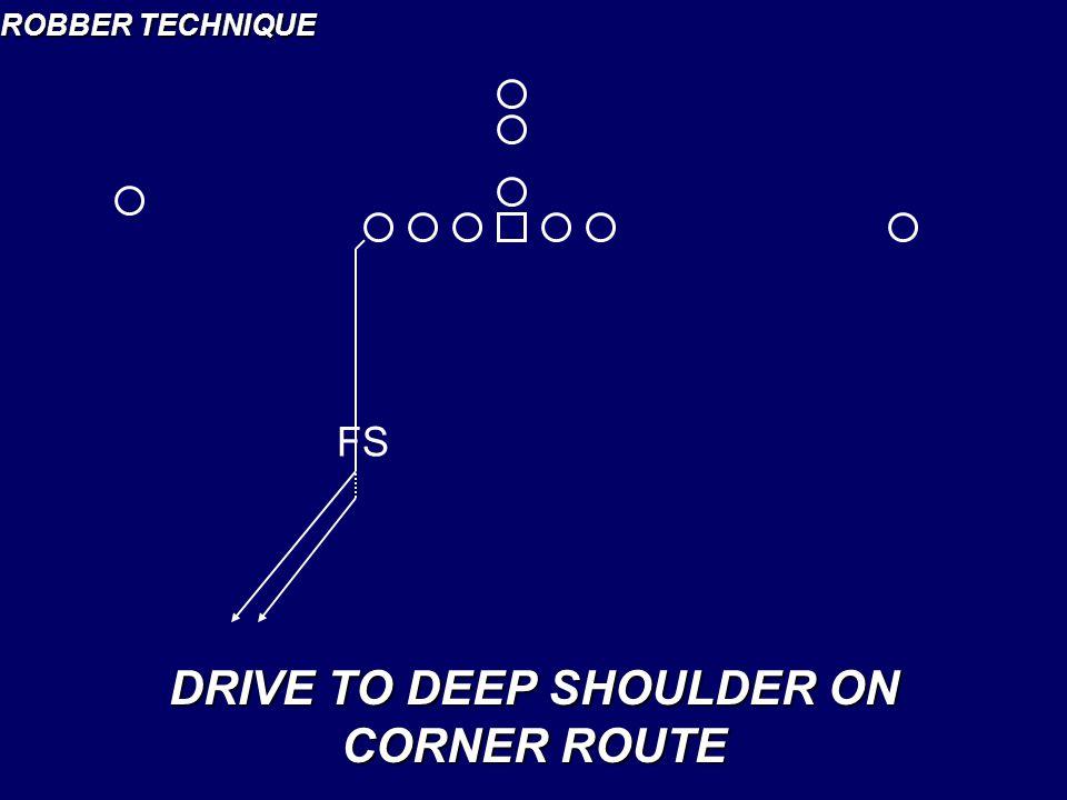ROBBER TECHNIQUE DRIVE TO DEEP SHOULDER ON CORNER ROUTE FS