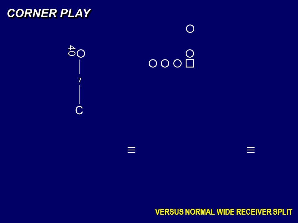 C 7 CORNER PLAY VERSUS NORMAL WIDE RECEIVER SPLIT _ _ _ _ _ _ 40