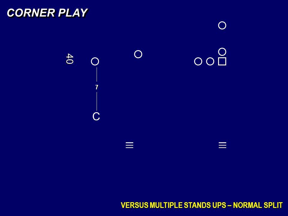 CORNER PLAY VERSUS MULTIPLE STANDS UPS – NORMAL SPLIT C 7 _ _ _ _ _ _ 40