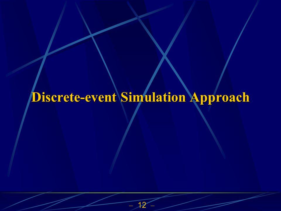  12  Discrete-event Simulation Approach