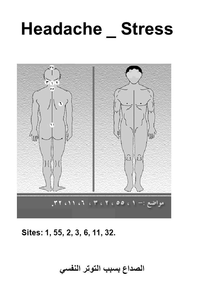 Headache _ Stress Sites: 1, 55, 2, 3, 6, 11, 32. الصداع بسبب التوتر النفسي
