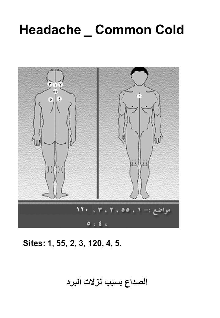 Headache _ Common Cold Sites: 1, 55, 2, 3, 120, 4, 5. الصداع بسبب نزلات البرد