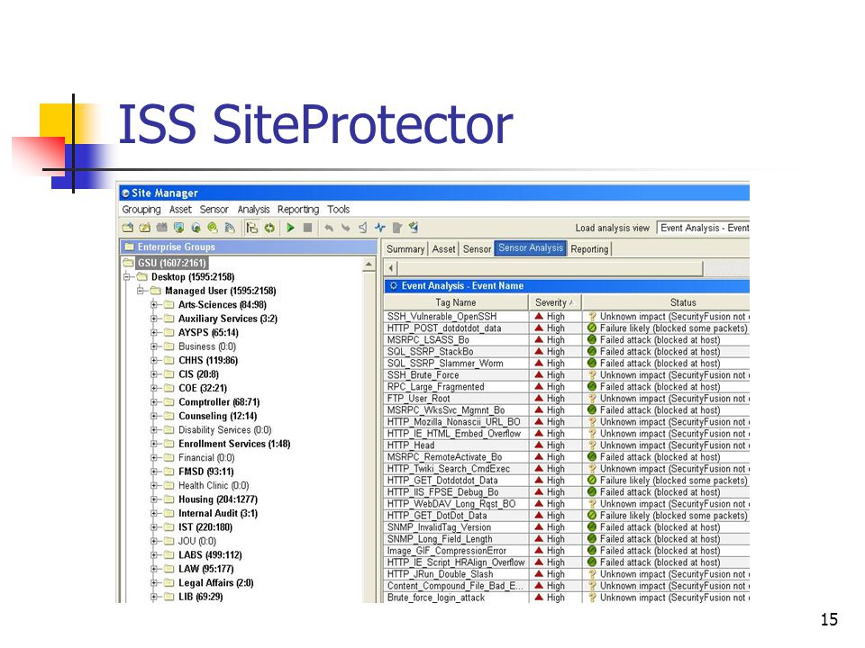 15 ISS SiteProtector