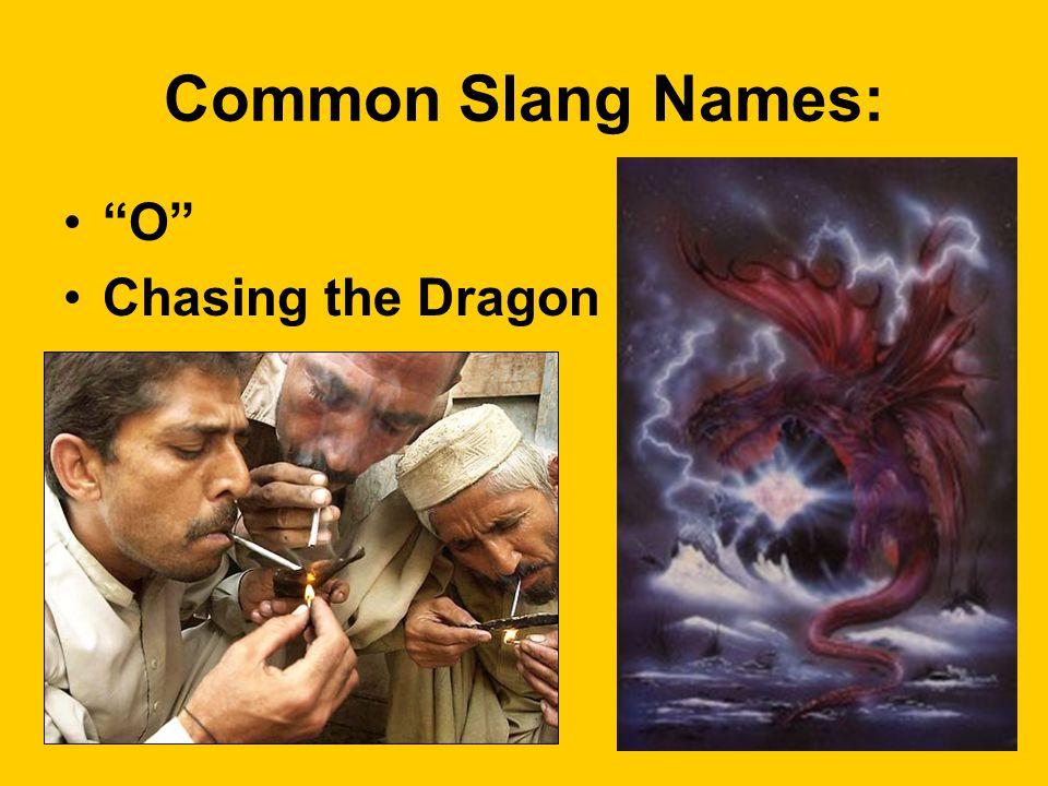 Common Slang Names: O Chasing the Dragon