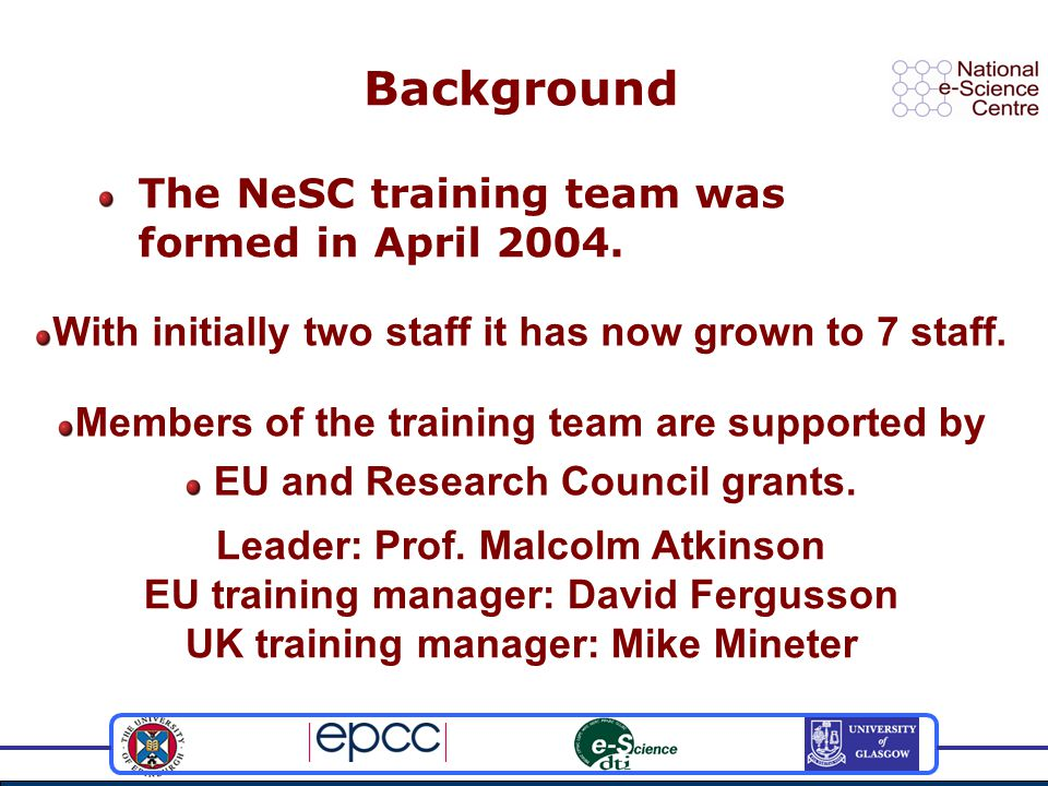 What is the NGS.The NGS is the core UK grid From the UK s e-Science programme.