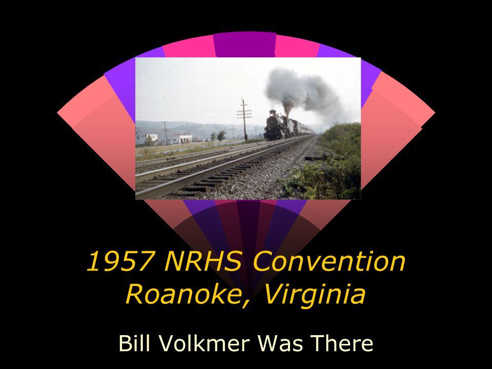 The previous eastbound coal train's helper backs downgrade towards Roanoke August 31, 1957 WDV