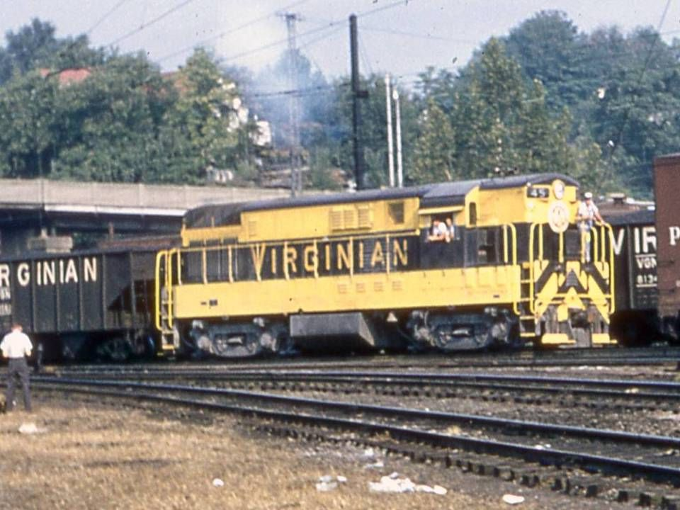 A recently retired Virginian Berkshire 2-8-4 first cousin to the NKP and C&O locomotives.