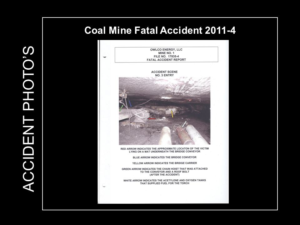 Coal Mine Fatal Accident 2011-4 ACCIDENT PHOTO'S
