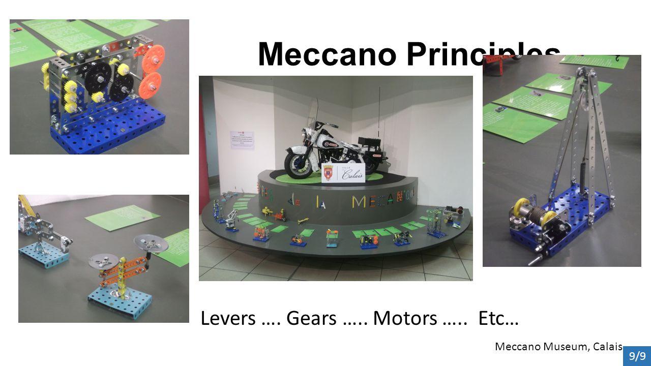 Meccano Principles Levers …. Gears ….. Motors ….. Etc… Meccano Museum, Calais 9/9