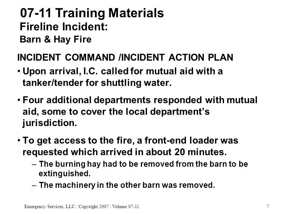 Emergency Services, LLC / Copyright 2007 / Volume 07-1198 Kramer vs.