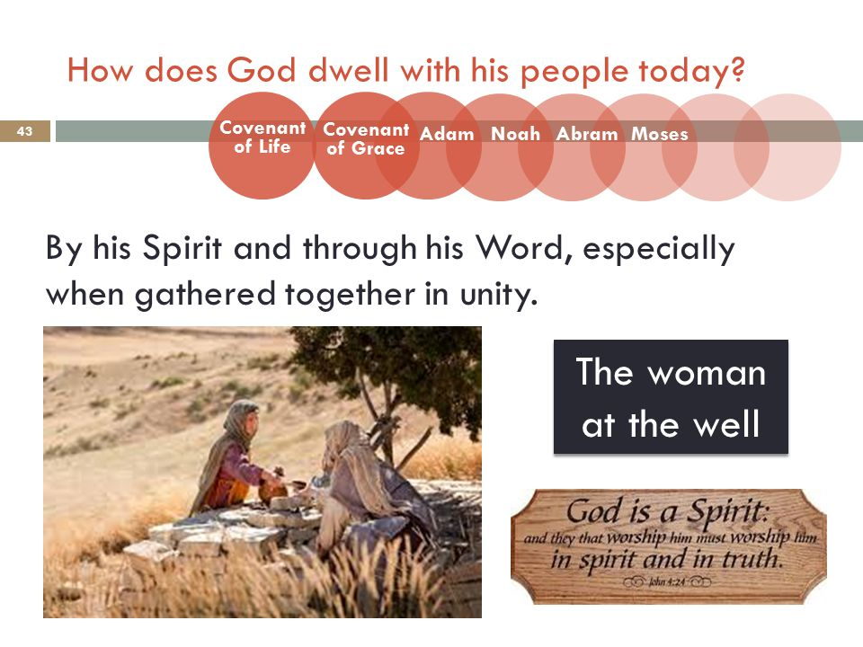 How does God dwell with his people today.
